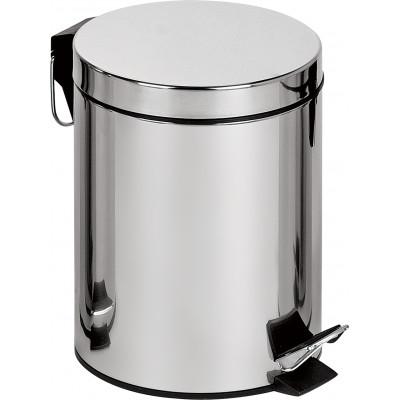 Binele Classic Ведро для мусора с педалью 12 литров полированная сталь