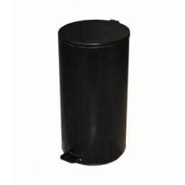 Binele Lux Ведро для мусора с педалью 30 литров черная эмалированная сталь