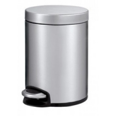 Binele Ведро для мусора с педалью 5 литров матовая сталь