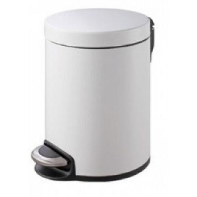 Binele Lux Ведро для мусора с педалью 20 литров белая эмалированная сталь
