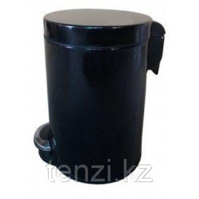 Binele Lux Ведро для мусора с педалью 20 литров черная эмалированная сталь