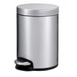 Binele Lux Ведро для мусора с педалью 20 литров матовая сталь