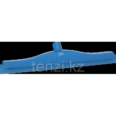 Гигиеничный сгон с подвижным креплением и сменной кассетой, 505 мм, синий цвет