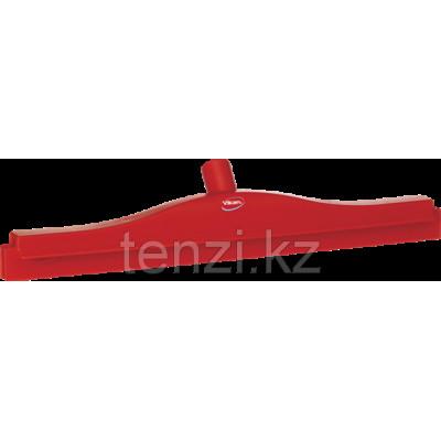 Гигиеничный сгон с подвижным креплением и сменной кассетой, 505 мм, красный цвет