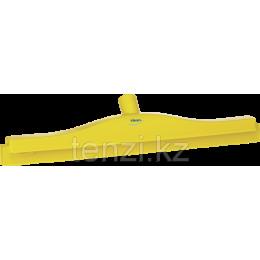 Гигиеничный сгон с подвижным креплением и сменной кассетой, 505 мм, желтый цвет