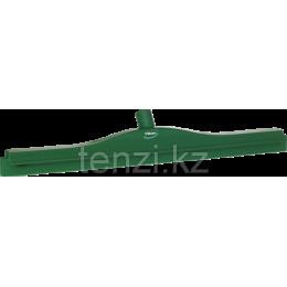 Гигиеничный сгон с подвижным креплением и сменной кассетой, 600 мм, зеленый цвет