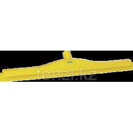 Гигиеничный сгон с подвижным креплением и сменной кассетой, 600 мм, желтый цвет