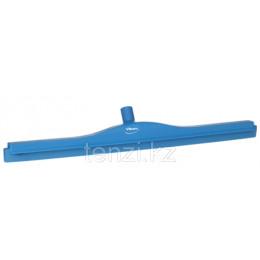 Гигиеничный сгон с подвижным креплением и сменной кассетой, 700 мм, синий цвет