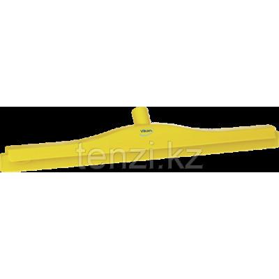 Гигиеничный сгон с подвижным креплением и сменной кассетой, 700 мм, желтый цвет