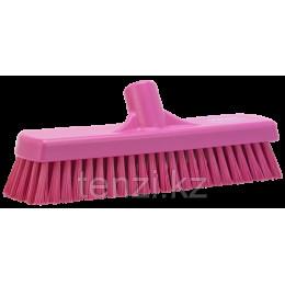 Щетка для мытья полов и стен, 305 мм, Жесткий ворс, Розовый цвет