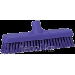 Щетка для мытья полов и стен, 305 мм, Жесткий ворс, фиолетовый цвет