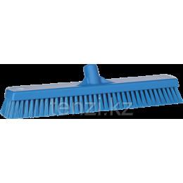 Щетка для мытья полов и стен, 470 мм, Жесткий ворс, синий цвет