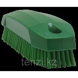 Щетка S для рук / для ногтей, 130 мм, Жесткий ворс, зеленый цвет