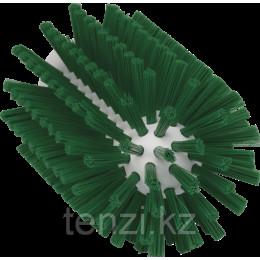 Щетка-ерш для очистки труб, гибкая ручка, диаметр 77 мм, средний ворс, зеленый цвет