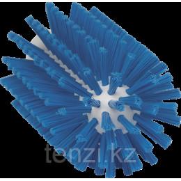 Щетка-ерш для очистки труб, гибкая ручка, диаметр 77 мм, средний ворс, синий цвет
