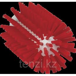 Щетка-ерш для очистки труб, гибкая ручка, диаметр 77 мм, средний ворс, красный цвет
