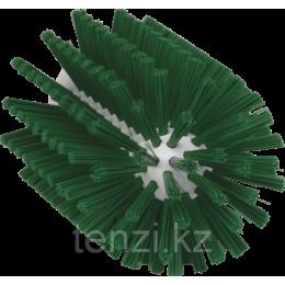 Щетка-ерш для очистки труб, гибкая ручка, Ø90 мм, средний ворс, зеленый цвет