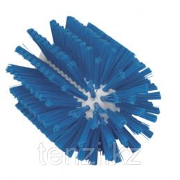 Щетка-ерш для очистки труб, гибкая ручка, Ø90 мм, средний ворс, синий цвет