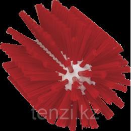 Щетка-ерш для очистки труб, гибкая ручка, Ø90 мм, средний ворс, красный цвет