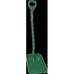 Эргономичная большая лопата с длинной ручкой, 380 x 340 x 90 мм., 1310 мм, зеленый цвет
