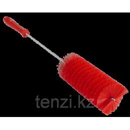 Ерш для чистки труб, диаметр 60 мм, 510 мм, средний ворс, красный цвет