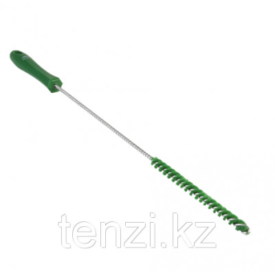Ерш для чистки труб, диаметр 10 мм, 480 мм, Жесткий ворс, зеленый цвет