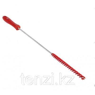 Ерш для чистки труб, диаметр 10 мм, 480 мм, Жесткий ворс, красный цвет