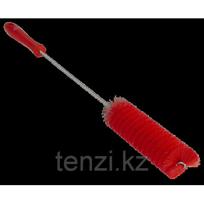 Ерш для чистки труб, диаметр 40 мм, 510 мм, Жесткий ворс, красный цвет