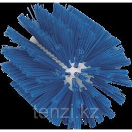 Щетка-ерш для очистки труб, гибкая ручка, диаметр 103 мм, средний ворс, синий цвет