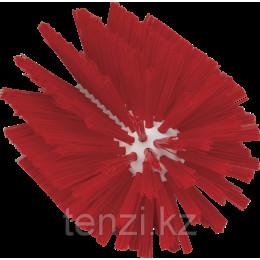 Щетка-ерш для очистки труб, гибкая ручка, диаметр 103 мм, средний ворс, красный цвет