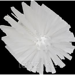 Щетка-ерш для очистки труб, гибкая ручка, диаметр 103 мм, средний ворс, белый цвет