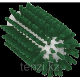 Щетка-ерш для очистки труб, гибкая ручка, диаметр 63 мм, Жесткий ворс, зеленый цвет