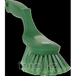 Щетка ручная эргономичная, 330 мм, Мягкий/расщепленный ворс, зеленый цвет
