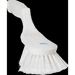 Щетка ручная эргономичная, 330 мм, Мягкий/расщепленный ворс, белый цвет