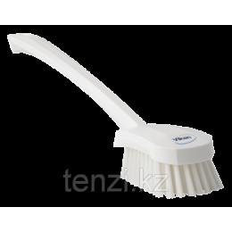 Щетка для мытья с длинной ручкой, 415 мм, средний ворс, белый цвет