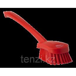 Щетка для мытья с длинной ручкой, 415 мм, Жесткий ворс, красный цвет