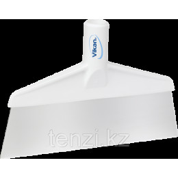 Скребок с рабочей пластиной из нержавейки для столов и полов, 260 мм, белый цвет