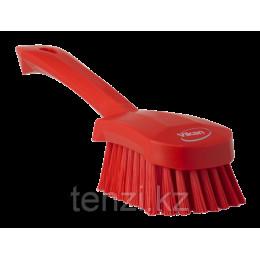Щетка для мытья с короткой ручкой, 270 мм, средний ворс, красный цвет