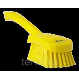 Щетка для мытья с короткой ручкой, 270 мм, средний ворс, желтый цвет