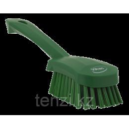 Щетка для мытья с короткой ручкой, 270 мм, Жесткий, зеленый цвет