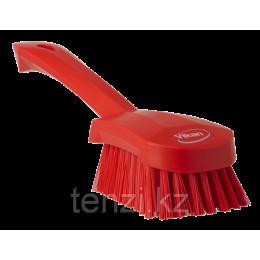 Щетка для мытья с короткой ручкой, 270 мм, Жесткий, красный цвет