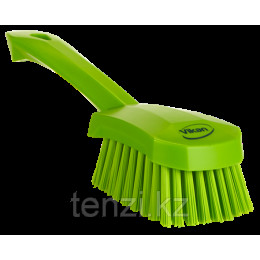 Щетка для мытья с короткой ручкой, 270 мм, Жесткий ворс, лаймовый цвет