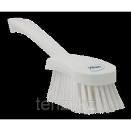 Щетка для мытья с короткой ручкой, 270 мм, Мягкий/расщепленный ворс, белый цвет