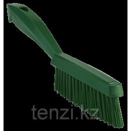 Щетка ручная узкая с короткой ручкой, 300 мм, Очень жесткий ворс, зеленый цвет