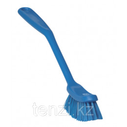 Щетка для мытья посуды малая, 290 мм, средний ворс, синий цвет