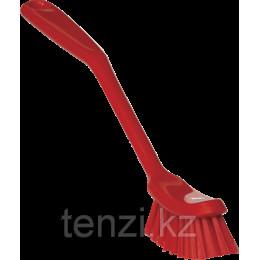 Щетка для мытья посуды малая, 290 мм, средний ворс, красный цвет