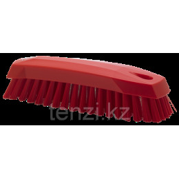 Щетка ручная скребковая, 165 мм, средний ворс, красный цвет