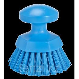 Щетка ручная круглая жесткая, Ø110 мм, Жесткий ворс, синий цвет