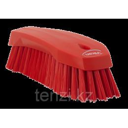 Щетка ручная L, 200 мм, Жесткий ворс, красный цвет