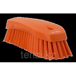 Щетка ручная L, 200 мм, Жесткий ворс, оранжевый цвет
